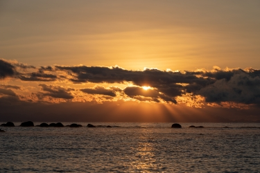 駿河湾の日の出